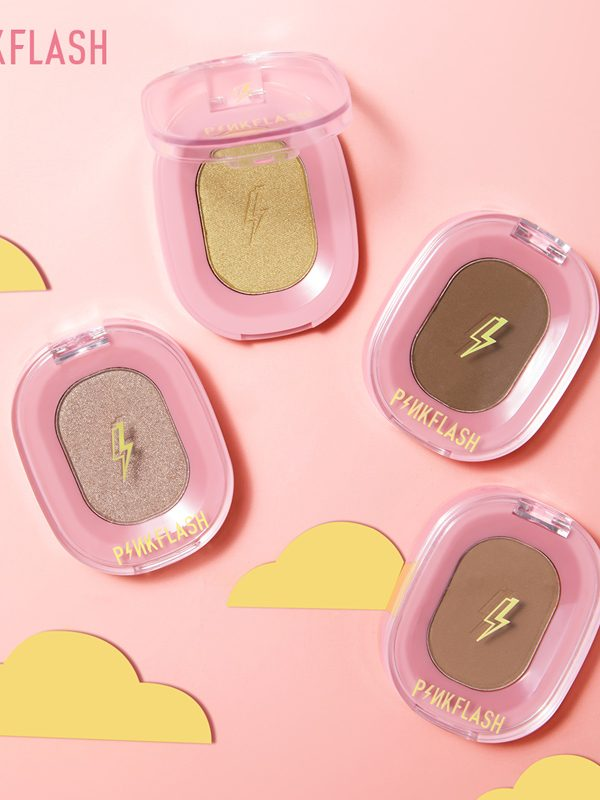 pink flash highlighter and contour